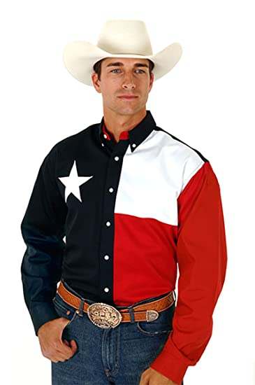 Men Fashion Clothing In Texas Roper Texas Shirt Navy Small