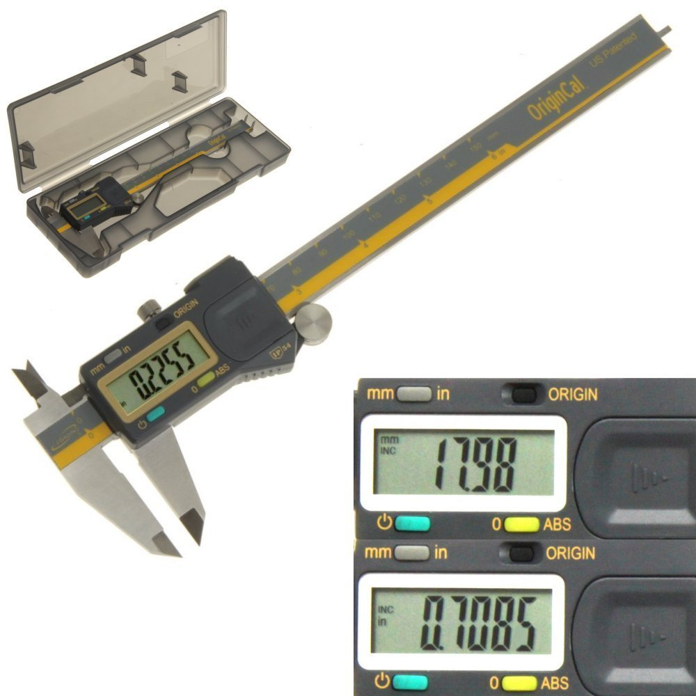 iGaging ABSOLUTE ORIGIN 0-6'' Digital Electronic Caliper - IP54 Protection / Extreme Accuracy