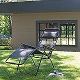 Lafuma-LFM3061-4258-Relax-Liegestuhl-klappbar-und-verstellbar-Futura-ardoise-dunkelgrau