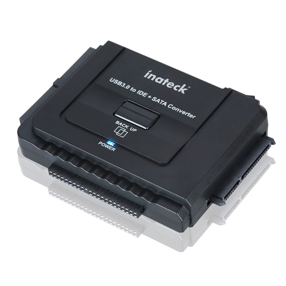 Inateck IDE or SATA to USB 3.0 Universal Converter Hard Drive Adapter with Power Switch for 2.5 /3.5 SATA HDD/SSD & IDE HDD Drives Optical Drive, Include 12V 2A Power Adapter and USB 3.0 CableCustomer review and more information