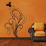 Decal Style ButterFly Swirls Wall Sticker Large Size-25*40 Inch