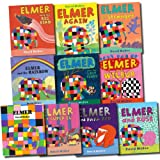 David Mckee Elmer the Elephant Collection David Mckee 10 Books Set (Elmer and Rose, Elmer, Elmer and the Stranger, Elmer and the Big Bird, Elmer and Wilbur, Elmer Again, Elmer and The Lost Teddy, Elmer and the Rainbow, Elmer and Super El, Elmer and Papa
