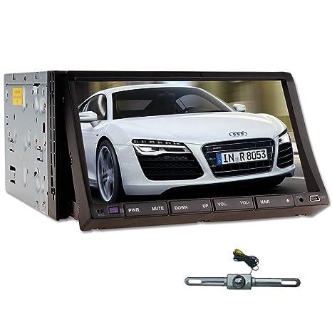 "7inch HD WIN8 Double 2 DIN DVD de voiture stšŠršŠo Navigation GPS Radio Ipod + HD 2 Din 7 ""CamšŠra šŠcran tactile voiture lecteur DVD GPS Bluetooth Ipod Radio TV PIP Back-Up"