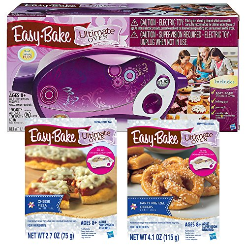 Ultimate Easy Bake Oven With Cheese Pizza Refill Mix & Party Pretzel Dippers Mix Bundle (Easy Bake Oven Pizza Mix compare prices)