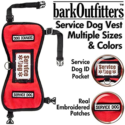 barkOutfitters Service Dog Vest Harness - Available in 4 Colors and 5 Sizes