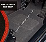 Alfa Romeo Brera (2005 to 2010) Grey Car Mats + Red Trim