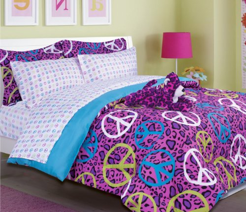 Annie Leopard Bed In A Bag Comforter Set - 2720-Twin- front-1040990