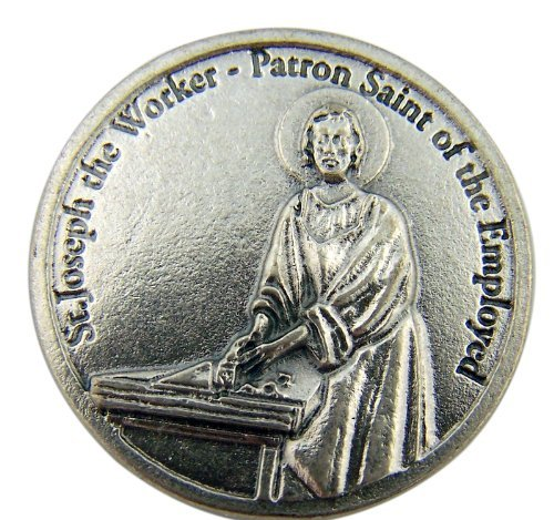 Catholic Archangel Saint St Joseph the Worker Patron of the Employed Pocket Token - 1