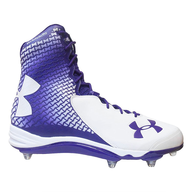 purple under armour football cleats