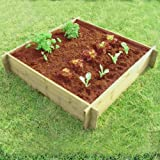 Wooden Raised Border For Flower Bed Or Vegetable & Herb Growing 1 Metre Square