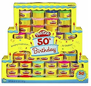 Play-Doh 50th Birthday Rainbow Pack of 50 Different Colors
