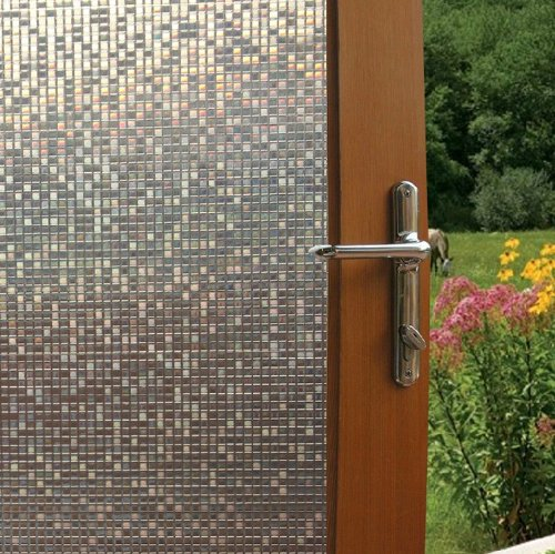 Fancy-Fix Cut Glass Mini Mosaic Decorative Window Film