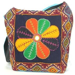 Womens Blue Cross Body Bag  Beautiful Tote Beach & Shopper Bag  Canvas Travel Bags