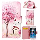 IPhone 6 Cases -Apple 6 Wallet Case Wild Wolf Best Design With Art Series Slim Style Magnetic Flap Closure Stand...