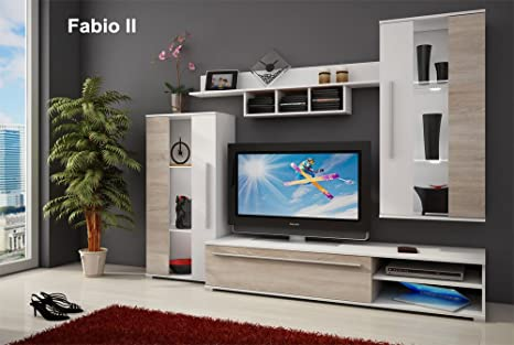 Wall unit - FABIO II - TV Table - Entertainment Unit - TV stand - Living Room Furniture Set