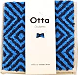 Otta 今治のハーフタオルハンカチ イレコ ブルー