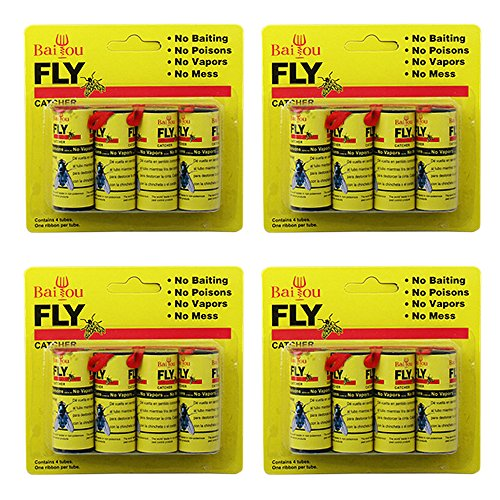 baiou-16pcs-fly-paper-stripsfly-trap-fly-catcher-trap-fly-ribbon-fly-bait-super-value