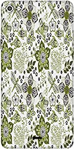 Snoogg Colorful Floral Seamless Pattern In Cartoon Style Seamless Pattern Designer Protective Back Case Cover For Micromax Canvas Silver 5 Q450
