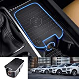 Premis Volvo Wireless Car Charger Fit for Volvo XC90 XC60 S90L V90 2017-2020 QC3.0 Fast Charging with USB Port 36W QI Wireless Smart Phone Charging Pad