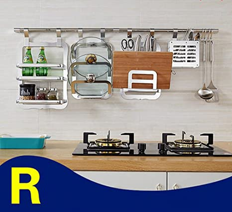 storage rack Kitchen Hanging Pendant, Kitchen Racks, Kitchen Spice Rack Cabinet shelf ( Color : 5*122cm )