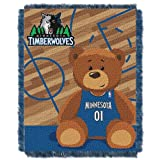 NBA Minnesota Timberwolves Half Court Woven Jacquard Baby Throw Blanket, 36x46-Inch at Amazon.com