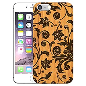 Digione Real Bamboo Wood show stop Series Designer Back Cover For Apple iPhone 6 6s BK-101