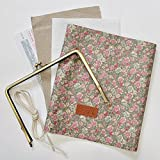 手帳ケースキット  YUWA 小花柄 型紙、作り方のレシピ付き 手作り (フロスティグレー)