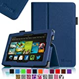 """Fintie Kindle Fire HD 7"""" (2013 Old Model) Slim Fit Folio Case with Auto Sleep / Wake Feature (will only fit Amazon Kindle Fire HD 7, Previous Generation - 3rd), Navy"""