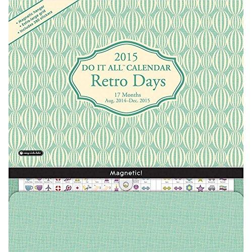 2015 Retro Days Do It All Wall Calendar Orange Circle Studios front-60792