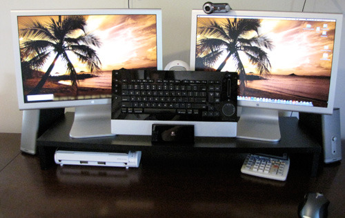 Ofc Express Dual Monitor Stand 36 X 11 X 4 25 Black On