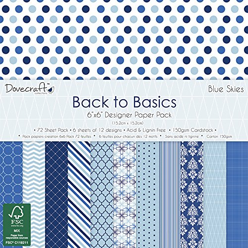 dovecraft-back-to-basics-blue-skies-pad-papier-6x6-multicolore