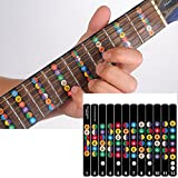 FineFun Guitar Fretboard Note Decals Fingerboard Frets Map Sticker for Beginner Learner Practice Fit 6 Strings Acoustic Electric Guitar