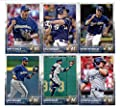 2015 Topps Baseball Cards Milwaukee Brewers Team Set (Series 1- 10 Cards) Including Matt Garza, Lyle Overbay, Scooter Gennett, Khris Davis, Jean Segura, Ryan Braun, Mark Reynolds, Zach Duke, Gerardo Parra, Carlos Gomez