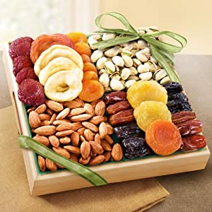 Golden State Fruit Pacific Coast Classic Dried Fruit Tray Gift, 2.5 Pound