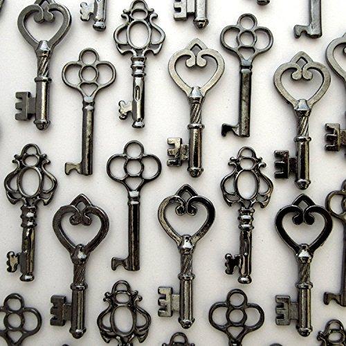 skeleton-key-set-in-gunmetal-black-30-keys-3-different-styles-c-vintage-style-key-replicas-black-col