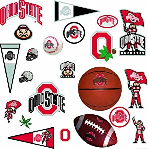 RoomMates RMK1111SCS Ohio State University Peel & Stick Wall Decals
