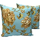 DKraft Rose Floral Cotton Cushion Cover(set Of 2pc) 16 X 16inch