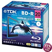 TDK 録画用ブルーレイディスク BD-R 25GB 1-4倍速 ホワイトワイドプリンタブル 20枚 5mmスリムケース BRV25PWB20A