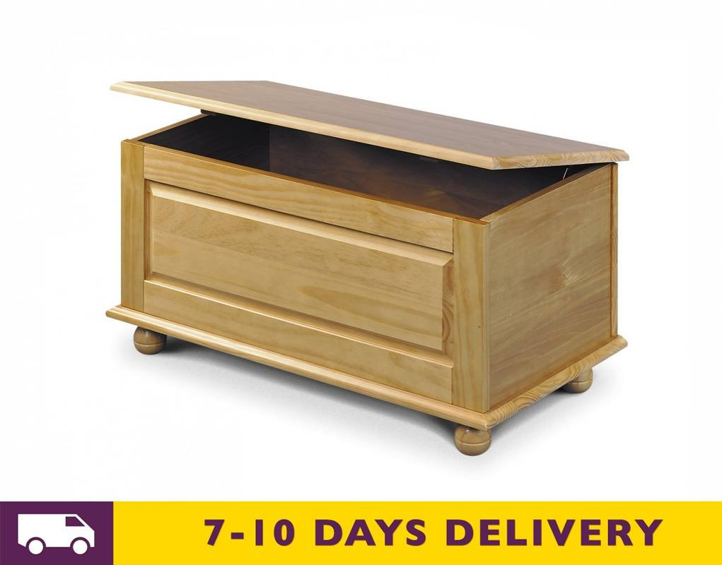 Julian Bowen Pickwick Blanket Box, Ottoman, Storage Box In Solid Pine       review and more information