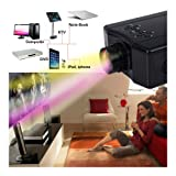 4000 Lumens HD 1080P Home Theater Projector 3D LED Portable SD HDMI AV USB New (Color: Black)