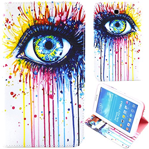 Candywe Leather for Galaxy Tab 3,Case for Galaxy Tab 3,Cases for Galaxy Tab 3,Galaxy Tab 3 Case,Cute Leather Case Cover for Samsung Galaxy Tab 3 7.0 T210/T217/P3200/P3210#1
