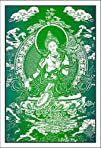 Green Tara  Cloth Print