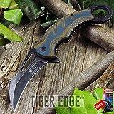 SPRING ASSIST FOLDING POCKET KNIFE Mtech Black Orange Karambit Tactical Serrated razor sharp + FREE eBOOK by MOON KNIVES!