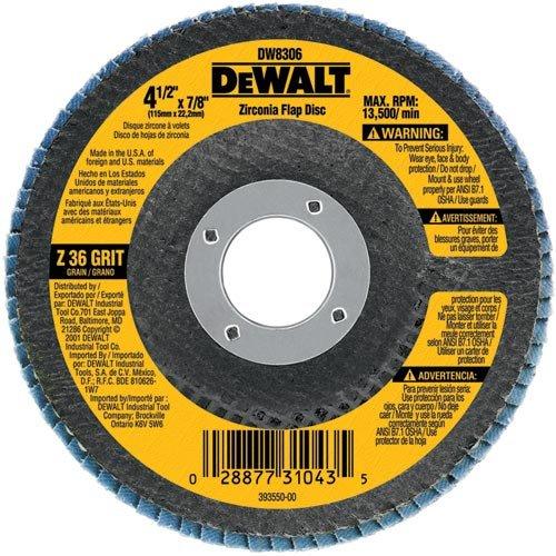 DEWALT DW8353 4-1/2-Inch by 7/8-Inch 80G Type 27 Flap Disc