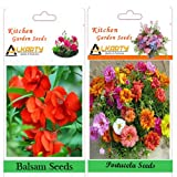 Alkarty Balsam And Portulaca Seeds Pack Of 20 (Summer)