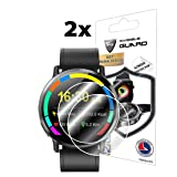 for LEMFO LEMX SmartWatch Screen Protector (2 Units) Invisible Ultra HD Clear Film Anti Scratch Skin Guard - Smooth/Self-Healing/Bubble -Free by IPG (Color: Clear)
