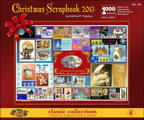 Christmas Scrapbook 1000 Piece Jigsaw Puzzle Atlantis Toy and Hobby - 1