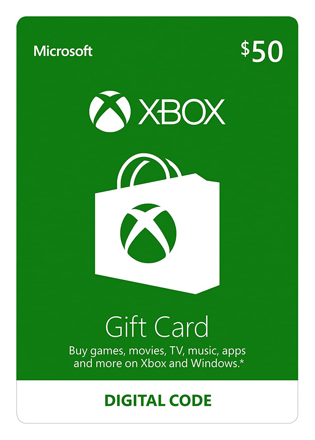 Xbox $50 Gift Card - Digital Code