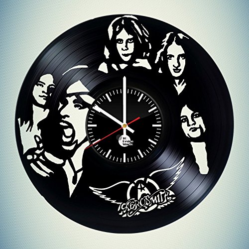 Aerosmith-Handmade-Vinyl-Record-Wall-Clock-Fun-gift-Vintage-Unique-Home-decor-Art-Design-Retro-Interier