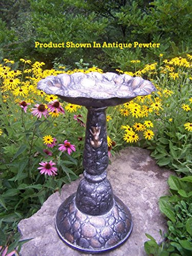 Oakland Living Rock Bird Bath, Antique Bronze image